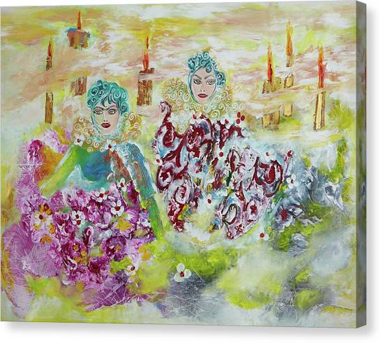 Mother And Daughter In Peace Canvas Print