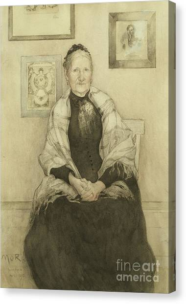 Grandma Canvas Print - Mother by Carl Larsson