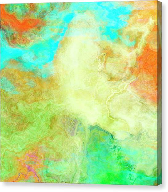 Mother Earth - Abstract Art - Triptych 1 Of 3 Canvas Print
