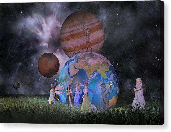 Shooting Stars Canvas Print - Mother Earth Series Plate2 by Betsy Knapp