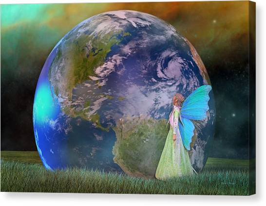 Shooting Stars Canvas Print - Mother Earth Series Plate3 by Betsy Knapp
