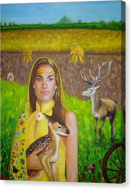 Mother Goddess Ker - Lammas Canvas Print