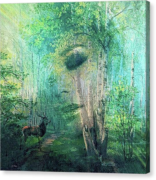 Woodland Canvas Print - Mother Nature 0022 by G Berry