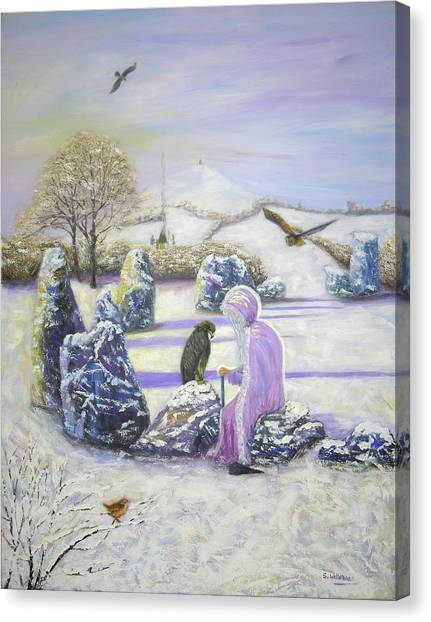 Mother Of Air Goddess Danu - Winter Solstice Canvas Print