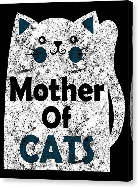 Ocicats Canvas Print - Mother Of Cats Distressed by Kaylin Watchorn
