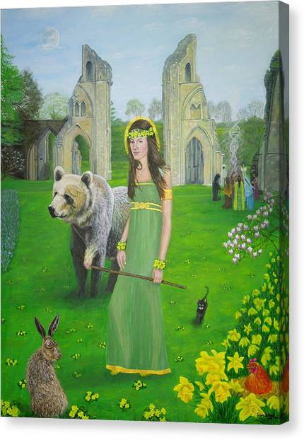 Mother Of Fire Goddess Artha - Spring Equinox Canvas Print