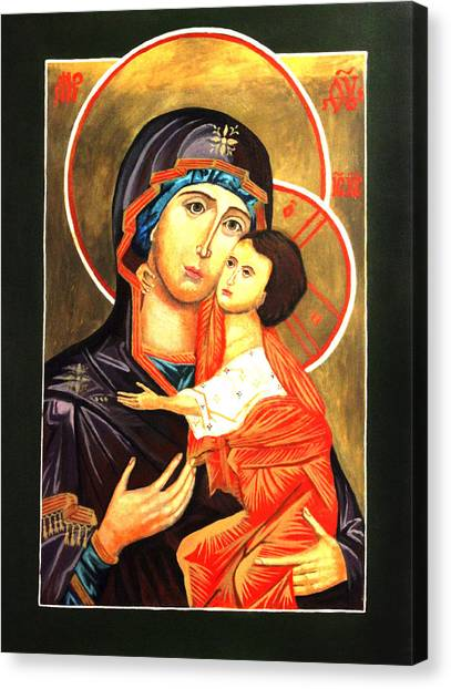 Mother Of God Antiochian Orthodox Icon Canvas Print by Patrick Kelly