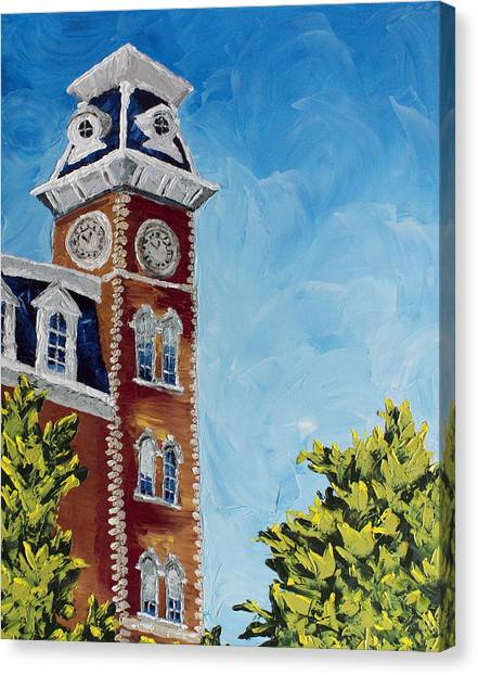 University Of Arkansas Canvas Print - Mother Of Mothers by Beth Lenderman