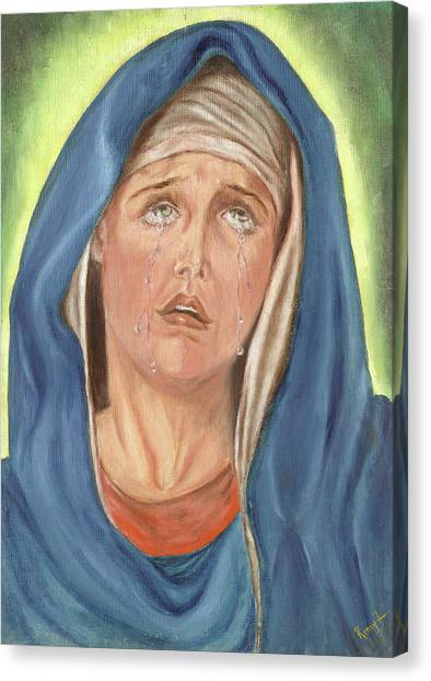 Mother Of Sorrow - Mater Dolorosa Canvas Print by Remy Francis