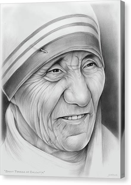 Charities Canvas Print - Mother Teresa by Greg Joens