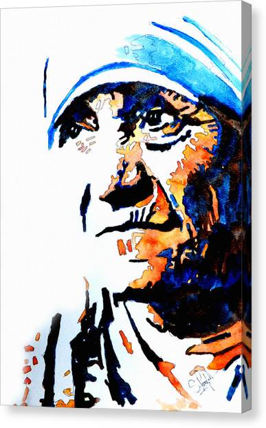 Nuns Canvas Print - Mother Teresa by Steven Ponsford