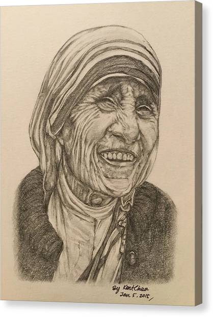 Pencils Canvas Print - Mother Theresa Kindness by Kent Chua