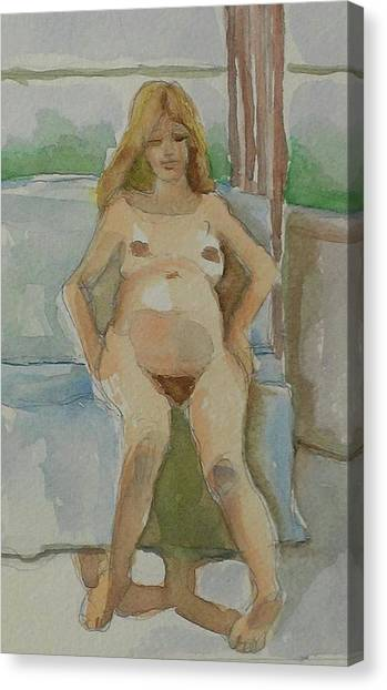 Mother-to-be Canvas Print by Janet Butler