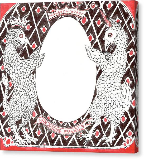 Motherclucker Crest Canvas Print
