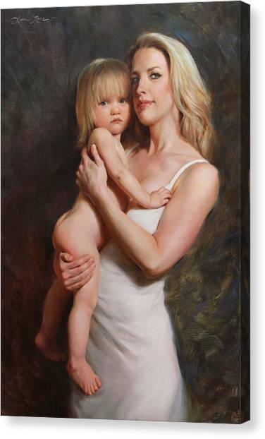 Motherhood Canvas Print - Motherhood by Anna Rose Bain