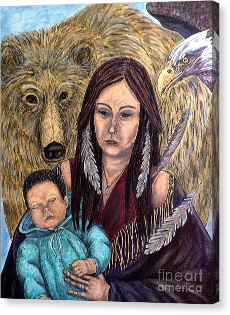 Motherhood-guardian Spirits Canvas Print