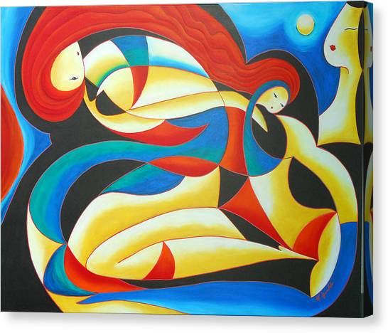 Motherhood Canvas Print by Marta Giraldo