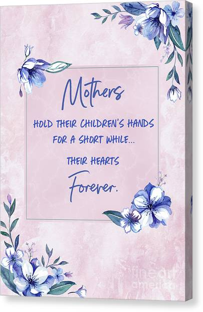Mothers And Their Children Canvas Print