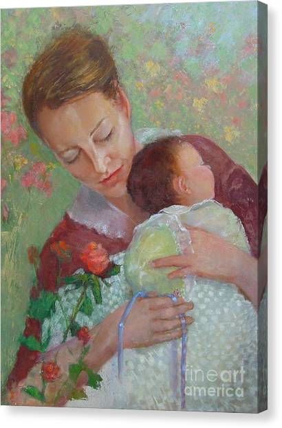 Mother's Day    Copyrighted Canvas Print by Kathleen Hoekstra