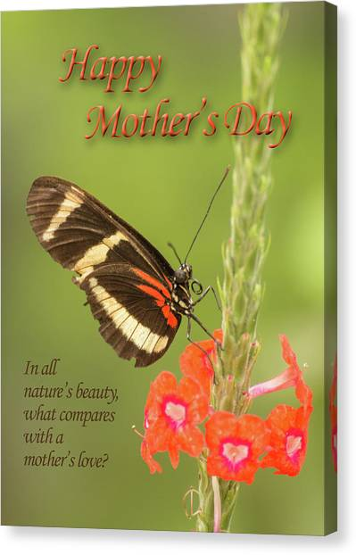 Mother's Day-butterfly Canvas Print