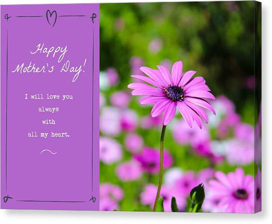 Canvas Print featuring the photograph Mother's Day Love by Alison Frank