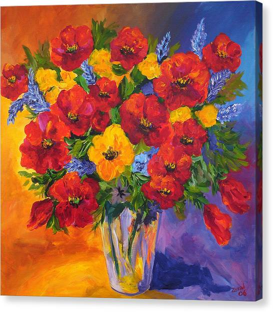 Mothers Spring Flowers Canvas Print by Mary Jo Zorad