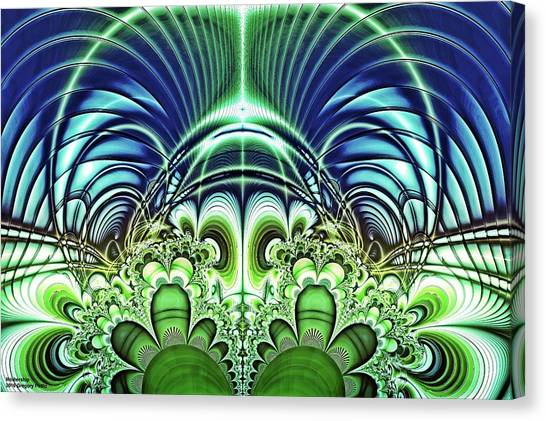 Si-fi Fractal Canvas Print - Mothership by Gregory Pirillo