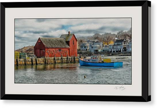 Motif #1 Watches Over The Amie V3 Canvas Print by Liz Mackney