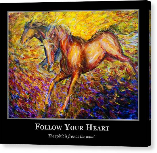 Motivational Horsea Canvas Print