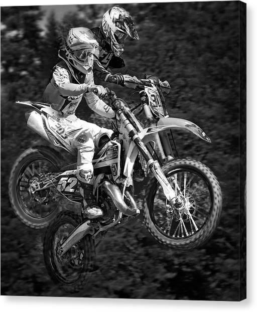 Dirt Bikes Canvas Print - Motocross by Daniel Hagerman
