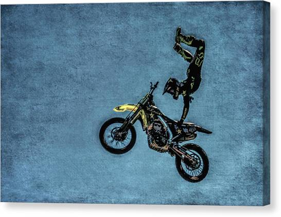 Motocross Canvas Print - Motocross Rider by Garry Gay
