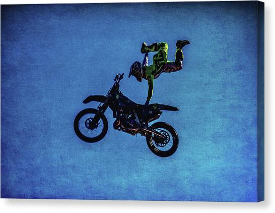 Motocross Canvas Print - Motocross Stunt by Garry Gay