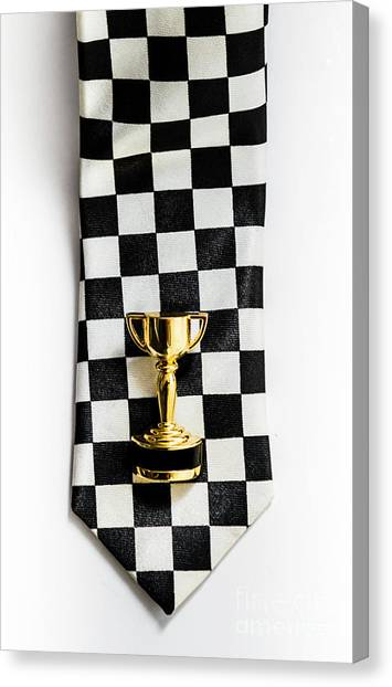 Knot Canvas Print - Motor Sport Racing Tie And Trophy by Jorgo Photography - Wall Art Gallery