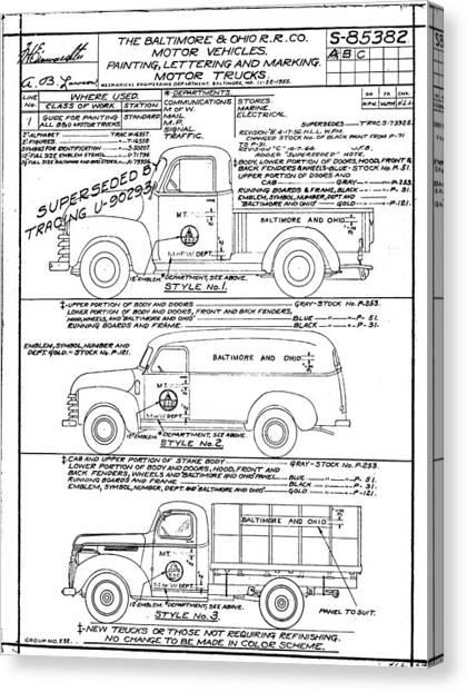 Motor Vehicles Canvas Print