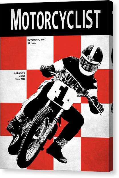 Motorcyclist Canvas Print - Motorcycle Magazine Number One 1961 by Mark Rogan