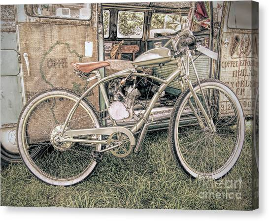 Motorized Bike Canvas Print