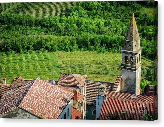 Motovun Istrian Hill Town - A View From The Ramparts, Istria, Croatia Canvas Print
