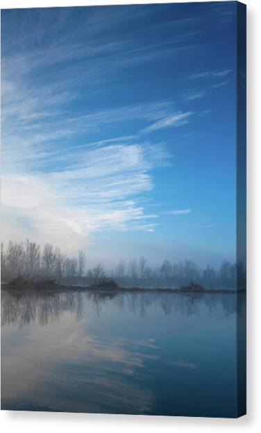 Canvas Print featuring the photograph Mottled Sky by Davor Zerjav