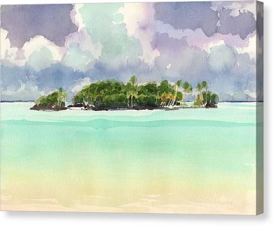 Motu Rapota, Aitutaki, Cook Islands, South Pacific Canvas Print