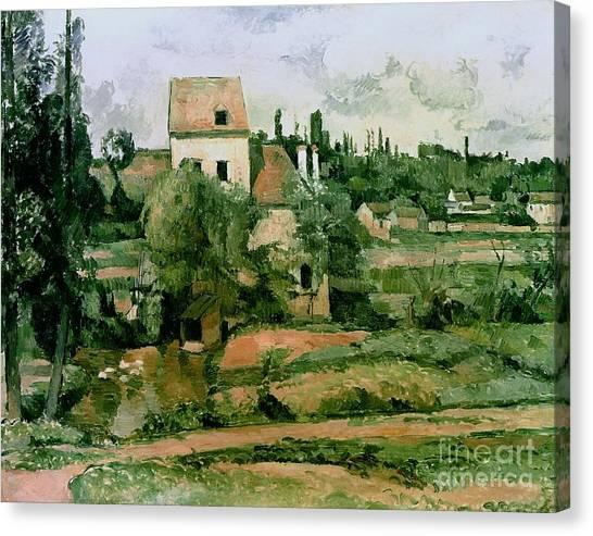 Mills Canvas Print - Moulin De La Couleuvre At Pontoise by Paul Cezanne