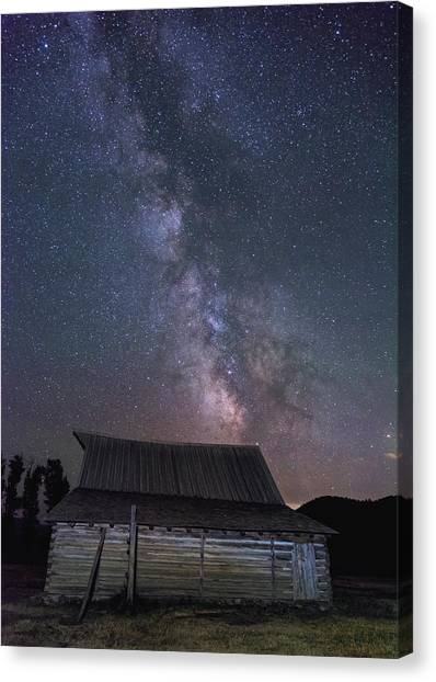 Moulton And The Milky Way Canvas Print