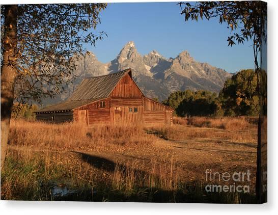 Moulton Barn At Sunrise Canvas Print