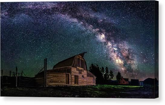 Moulton Barn Milky Way Canvas Print