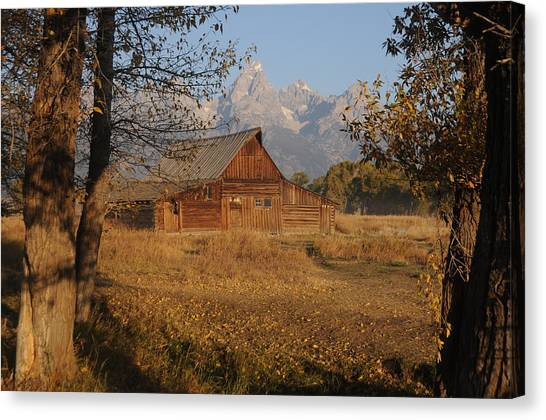 Moulton Barn With The Tetons Canvas Print