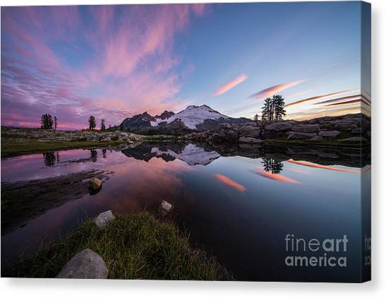 Table Mountain Canvas Print - Mount Baker Dawns Colors Clarity by Mike Reid