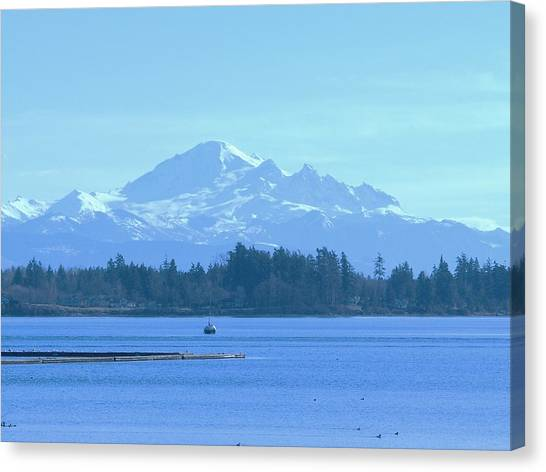 Mount Baker From The Spit Canvas Print by James Johnstone