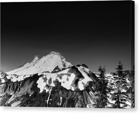 Mountains Canvas Print - Mount Baker In Washington by Brendan Reals