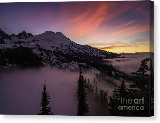 Table Mountain Canvas Print - Mount Baker Sunrise Peaceful Morning by Mike Reid