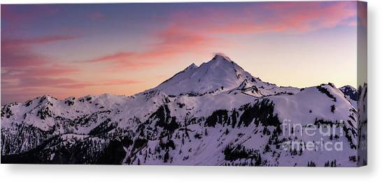 Table Mountain Canvas Print - Mount Baker Sunset Panorama by Mike Reid