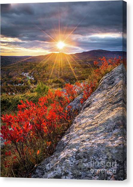 Mount Battie Sunset Canvas Print